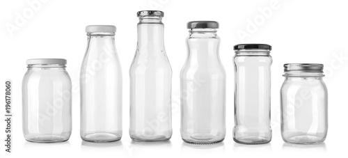 Fotografia  glass bottle isolated