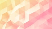 Light Yellow Pink Gradient Polygonal Geometric 3D Surface