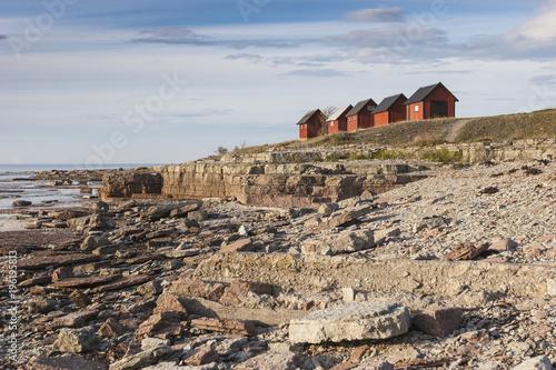 Fotografía  Bootshäuser auf der Insel Gotland,Schweden