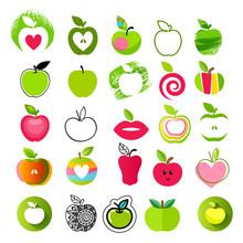 Apple Icons Big Set. Different Styles.