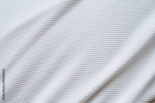 Poster Tissu White football jersey clothing fabric texture sports wear background