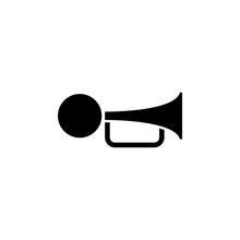 Klaxon Beep. Flat Vector Icon....