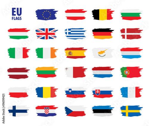 Fototapeta flags of the european union obraz na płótnie
