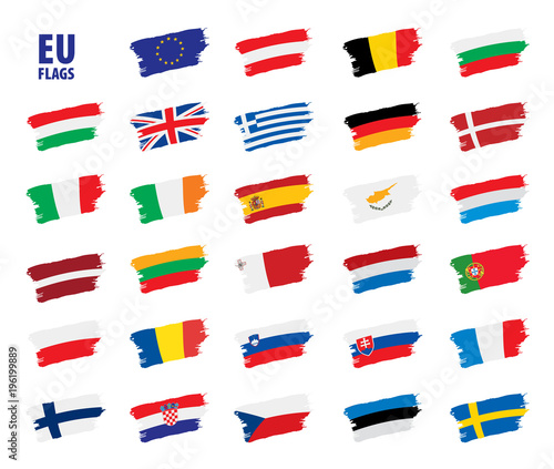 Obraz flags of the european union - fototapety do salonu