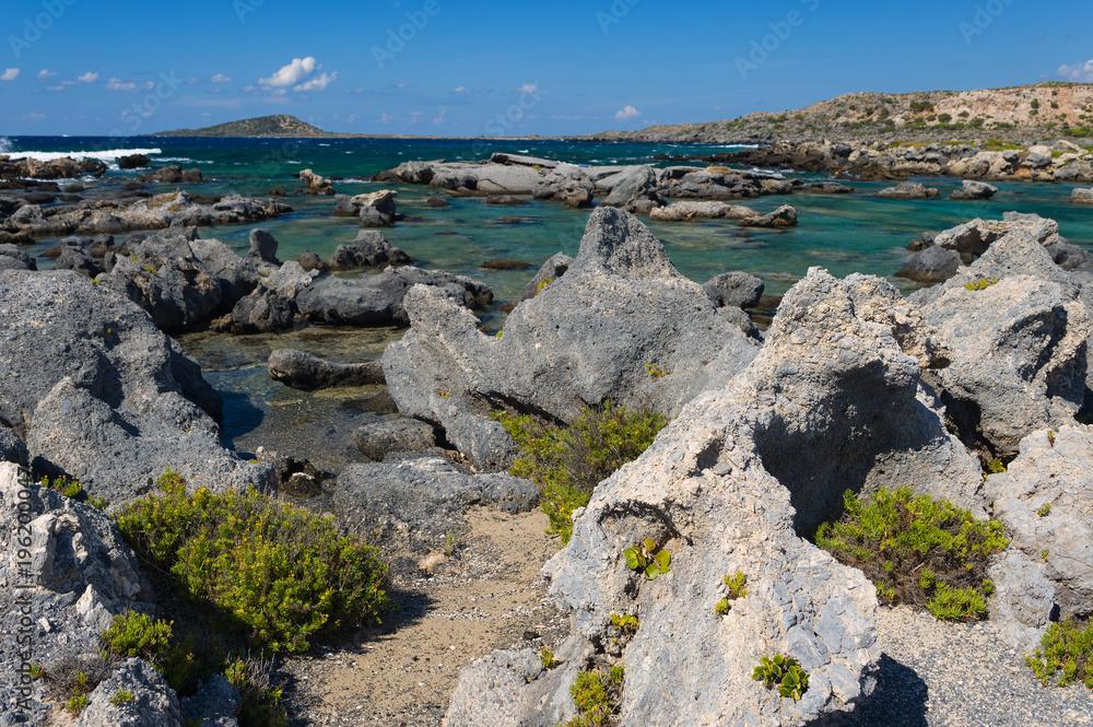 Felsige Küste von Elafonisi/Kreta Foto, Poster, Wandbilder bei ...