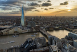 Fototapeta Londyn - London from above at sunset
