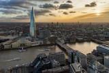Fototapeta Fototapeta Londyn - London from above at sunset