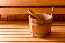 Finnish Wooden Sauna Bucket An...
