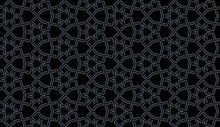 Seamless Pattern Of Gray And B...