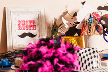 Table Of Photobooth Props With...