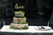 Wedding Cake Decorated With Le...