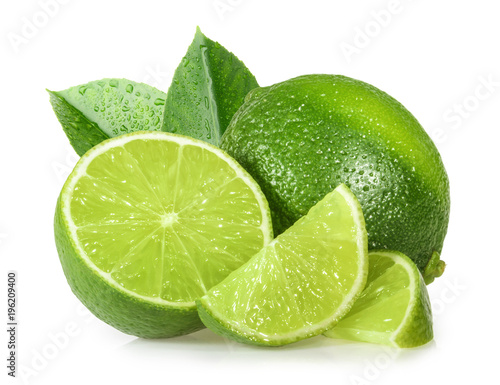 Canvas-taulu Lime isolated on white background