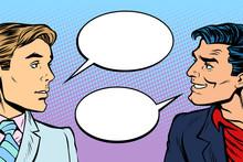 Two Men Dialogue