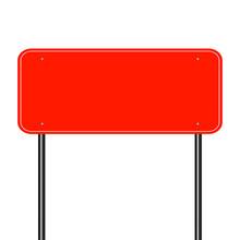 Sign Road Red,Sign Board Black On White Background.vector Illustration