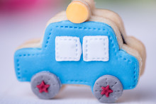 Car Shaped Police Cookie