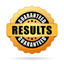 Results Guaranteed Gold Vector Seal