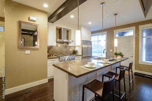 Modern Bright Kitchen In A Luxury House Interior Design Buy