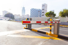 Automatic Barrier On The Road ...