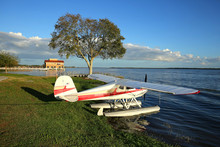 Seaplane Parked And Ready To T...