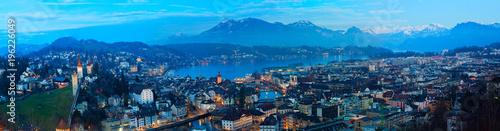 Fotomural Panorama von Luzern, Schweiz