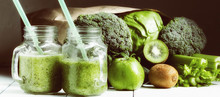 Smoothies With Vegetables. Spo...