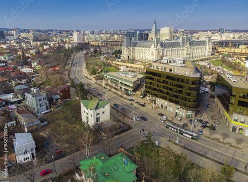 Foto op Aluminium Iasi city in Moldavia, Romania. Aerial view