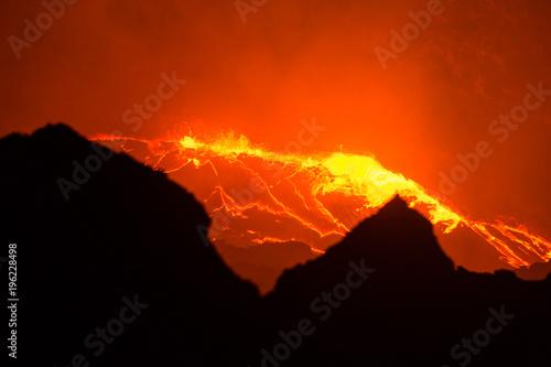 Foto op Plexiglas Rood Erta Ale volcano Danakil depression Ethiopia