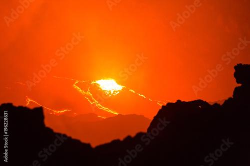 Foto op Canvas Baksteen Erta Ale volcano Danakil depression Ethiopia