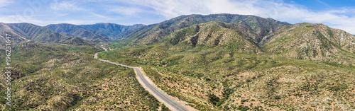 Fotografia, Obraz  Panoramic drone photograph of desert hills in California's Mojave Desert