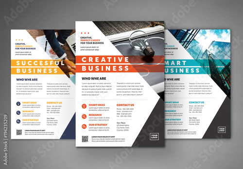 Business Flyer Layout With Colorful Accents 2  Buy This