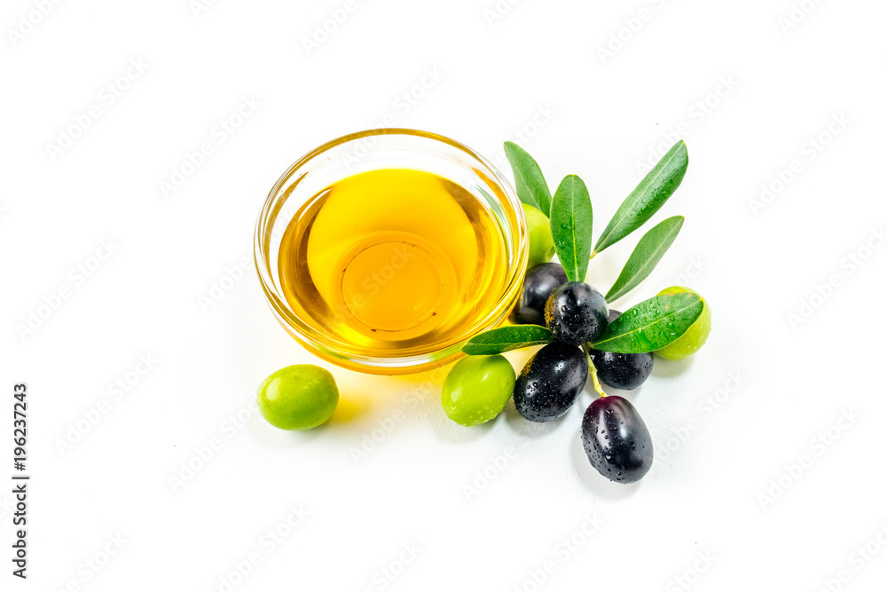 Fototapety, obrazy: Organic olive oil with  olives
