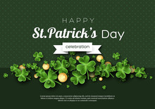 St. Patrick's Day Card. Clover...