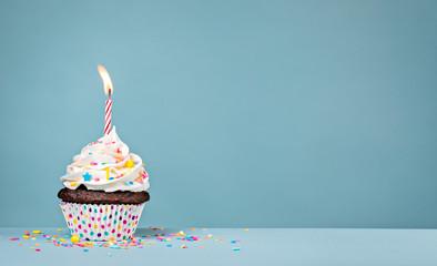 Fototapeta Birthday Cupcake