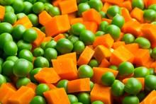 Orange Carrots And Green Peas