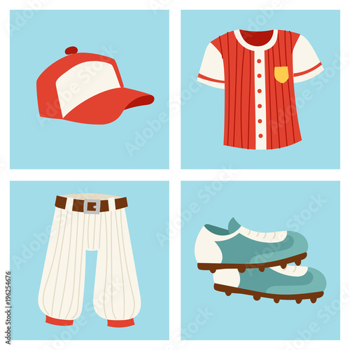 Photo  Baseball sport competition game team symbol softball play cartoon icons design s