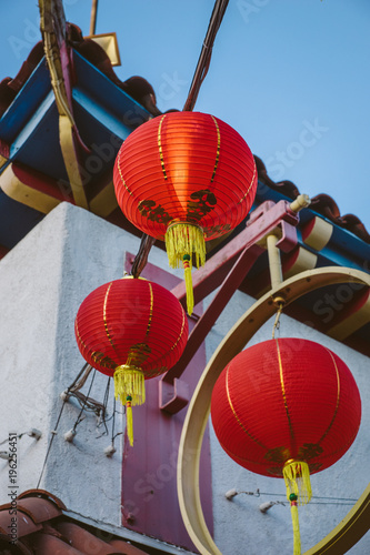 Photo  Chinese lanterns hanging