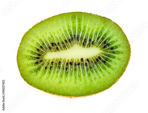 Half of kiwi isolated on white background