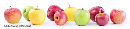 Fotografie, Obraz  Apple varieties: annurca, stark delicious, fuji, granny smith, golden delicious,