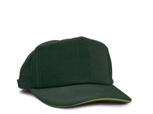 Green Cap Isolated On White Background.