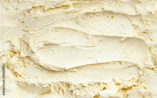 Top view of vanilla ice cream surface