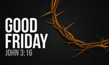 Good Friday John 3:16 Gold Cro...