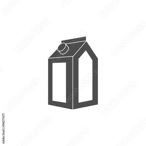 paper milk box icon  Element of dairy icon  Premium quality