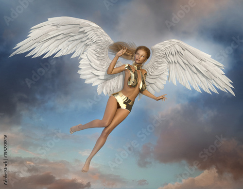 Sexy Woman Angel Canvas Print