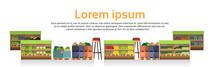 Modern Super Market Shelves Is...