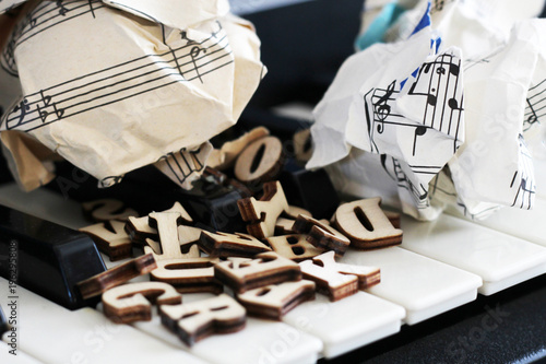 13 March 2018 Russia Izhevsk Piano Keys Closeup With Wooden