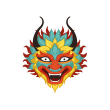 Colorful Dragon Head, Element ...
