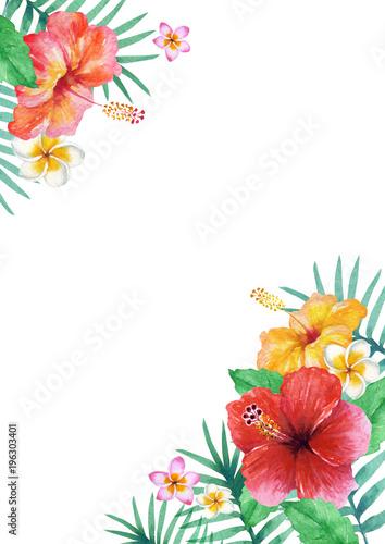 南国 ハワイ 植物フレーム 水彩 イラスト Buy This Stock Illustration And Explore Similar Illustrations At Adobe Stock Adobe Stock