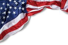Closeup Ruffled American Flag ...