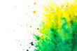 Watercolor splash on white background. Celebration of Holi festival