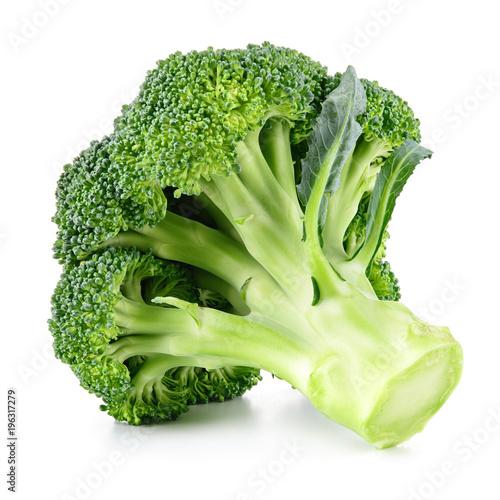 Broccoli isolated on white. Fresh broccoli.